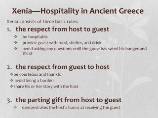 Xenia—Hospitality in Ancient Greece