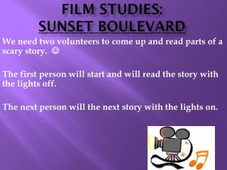 FILM STUDIES: Sunset BOULEVARD