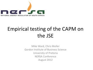 Empirical testing of the CAPM on the JSE