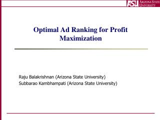 Optimal Ad Ranking for Profit Maximization