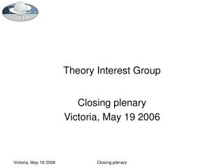 Theory Interest Group