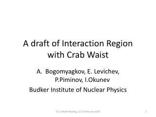 A draft of Interaction Region with Crab Waist