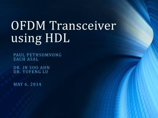 OFDM Transceiver using HDL