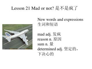 Lesson 21 Mad or not?  是不是疯了