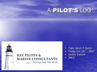 A PILOT'S LOG