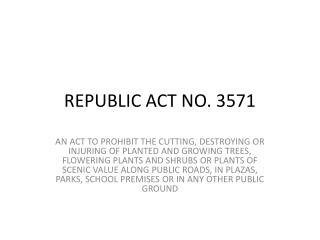 REPUBLIC ACT NO. 3571