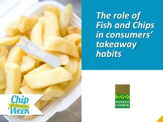 The role of Fish and Chips in consumers' takeaway habits