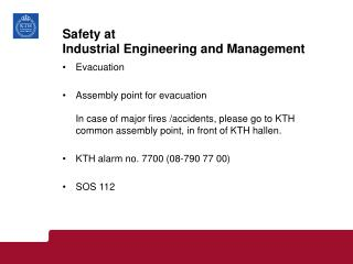 Safety at  Industrial Engineering and Management
