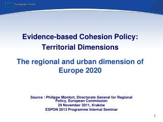 Source  :  Philippe  Monfort ,  Directorate General for Regional Policy ,  European Commission