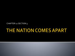 THE NATION COMES APART