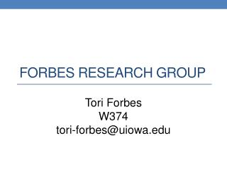Forbes Research Group