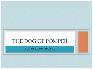 The Dog of Pompeii