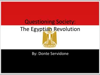 Questioning Society: The Egyptian Revolution