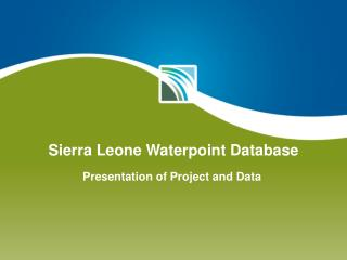 Sierra Leone  Waterpoint  Database