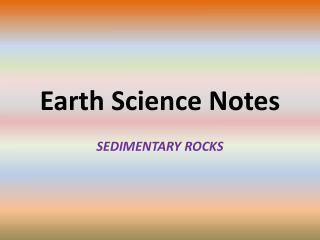 Earth Science Notes