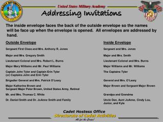 Addressing Invitations