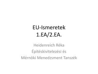 EU-Ismeretek 1.EA/2.EA.