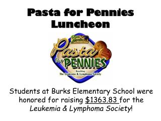 Pasta for Pennies Luncheon