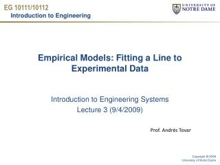 Empirical Models: Fitting a Line to Experimental Data