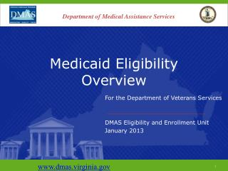 Medicaid Eligibility Overview