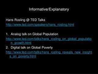 Informative/Explanatory