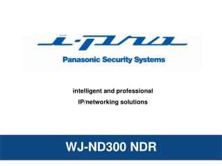 intelligent and professional IP/networking solutions