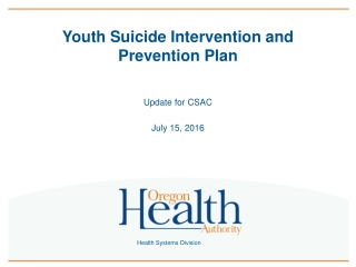 Youth Suicide Intervention and Prevention Plan