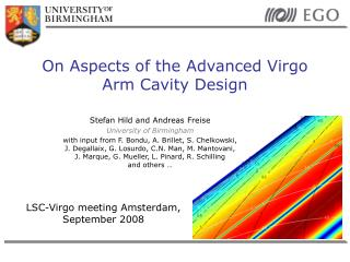 On Aspects of the Advanced Virgo Arm Cavity Design