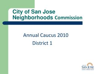 City of San Jose Neighborhoods  Commission