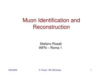 Muon Identification and Reconstruction
