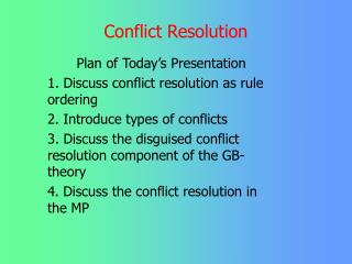 critically discuss conflict resolution in groups How to resolve workplace conflict debbie zmorenski tags: talent management conflict in the workplace seems to be a fact of life we've all seen situations where.