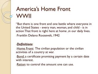 America's Home Front WWII