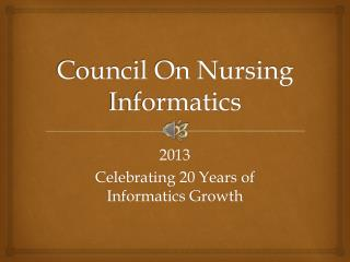 Council On Nursing Informatics