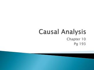 Causal Analysis