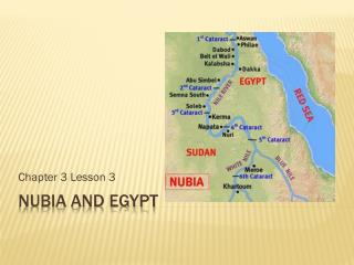Nubia  and Egypt