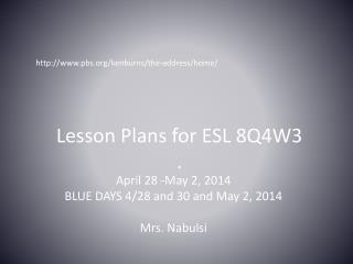 Lesson Plans for ESL  8Q4W3 .