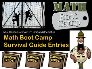 Math Boot Camp  Survival Guide Entries