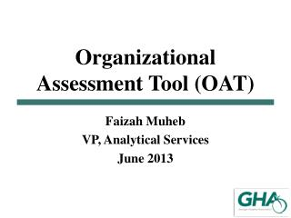Organizational  Assessment  Tool (OAT)