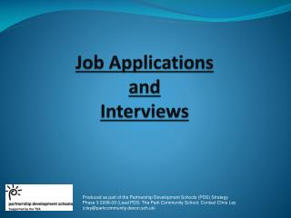 Job  Applications  and  Interviews