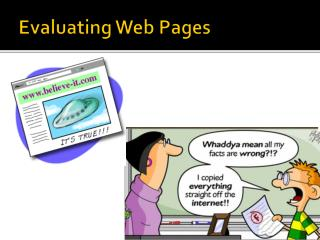 Evaluating Web Pages
