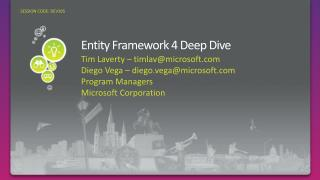 Entity Framework 4 Deep Dive