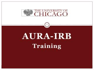 AURA-IRB Training