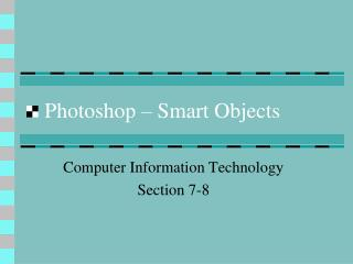 Photoshop – Smart Objects