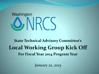 State Technical Advisory Committee's Local Working Group Kick Off