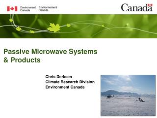 Passive Microwave Systems & Products