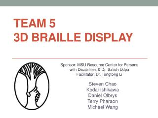 Team 5 3D Braille Display