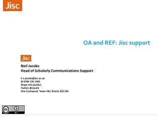OA and REF: Jisc support