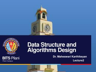Data Structure and Algorithms Design