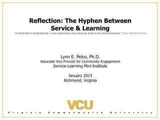 Reflection: The Hyphen Between Service & Learning