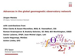 Advances in the global geomagnetic observatory network